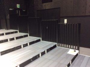 チームスマイル・いわきPIT納入。特注ステージ、特注観覧席 (5)