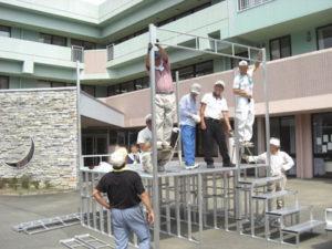 折りたたみ式アルミ製やぐら(櫓)ステージ 組み立て方3 パックス工業株式会社