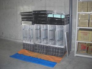 折りたたみ式(組み立て式)アルミ製ステージ 岡山県総社市 収納
